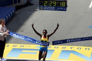 Hayle, Baysa winners of Boston Marathon