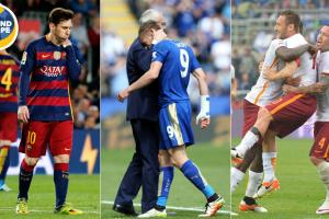 Lionel Messi, Jamie Vardy and Francesco Totti made headlines Around Europe over the weekend