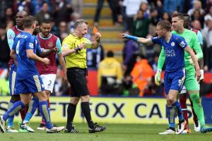 Leicester's Vardy banned 1 more game, fined by FA