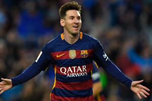 Watch: Messi scores long-distance header for Barca