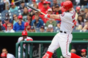 Watch: Bryce Harper ties game with pinch-hit homer
