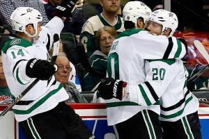 Stars defeat Wild in Game, advance to next round