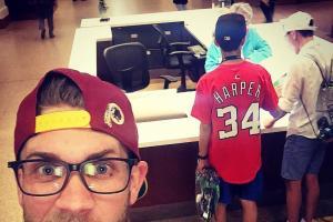 Bryce Harper took a secret selfie with a fan