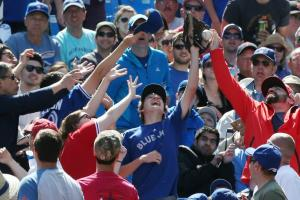 Blue Jays fan not interested in A's HR ball