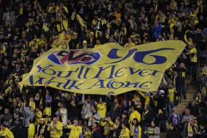 Villarreal fans banner honors Hillsborough victims
