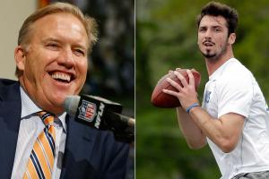 John Elway and the Broncos moved up in the first to select Memphis QB Paxton Lynch.