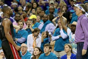 Purple shirt man: I didn't lose game for Hornets