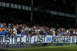 Everton fans pay tribute to Hillsborough victims