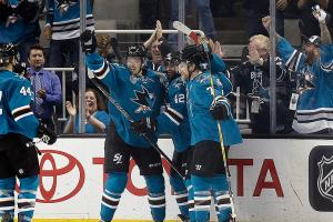 After long layoff, Sharks shake rust in Game 1