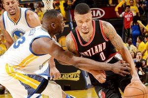 Blazers' guards struggle against Warriors' length