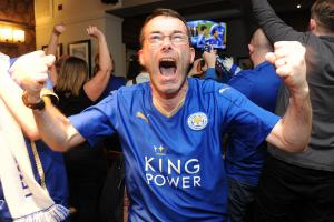 Leicester celebrates Premier League title