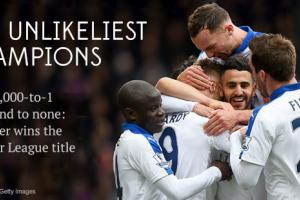 5,000-to-1? Second to none: Leicester wins EPL