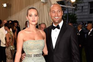 Carmelo, Jeter walk the red carpet at Met Gala