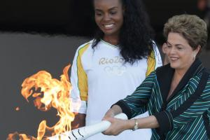 Watch: Olympic torch arrives in Brazil