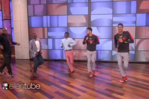 The Running Man Challenge made it to Ellen
