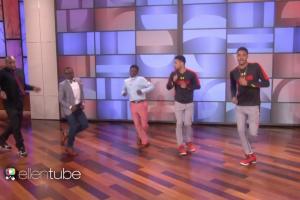 The Running Man Challenge made it to Ellen