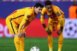 Barcelona stars Lionel Messi, Neymar