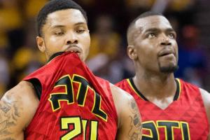 Did Kent Bazemore fall asleep during Cavs blowout?
