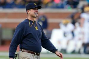 Watch: Jim Harbaugh hits a home run in khakis