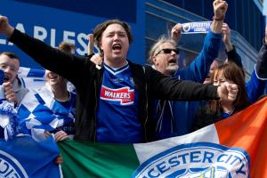 Leicester fans get free beer, pizza at last home game