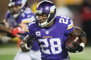 Adrian Peterson has 11,675 career rushing yards, 17th on the all-time list and second among active players (Frank Gore, 12,040).