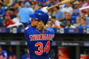 noah syndergaard home run dodgers mets video