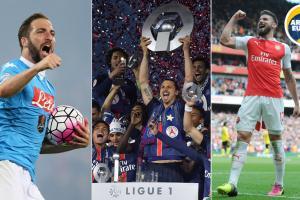 Gonzalo Higuain, Zlatan Ibrahimovic, Olivier Giroud