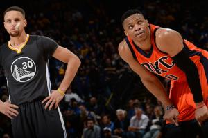 stephen curry russell westbrook warriors thunder