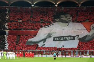 Dinamo Bucharest fans honor Patrick Ekeng with tifo
