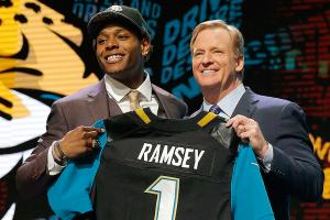 Jags' top draft pick out early with injury again