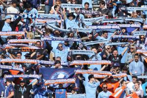 Watch: NYCFC, Red Bulls fans separated by police