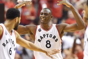 Biyombo's career night helps Raptors avoid sweep