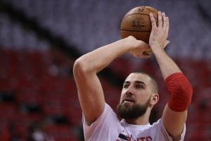 Valanciunas (ankle) active for Game 4 vs. Cavs