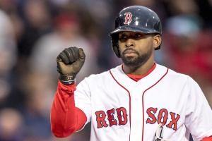 Watch: Bradley extends hitting streak to 28