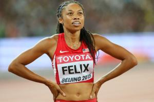 Allyson Felix (ankle) to miss Prefontaine Classic