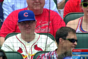 Conflicted man attends ballgame