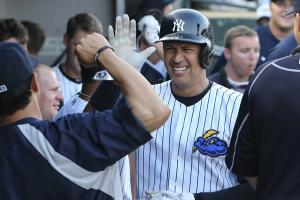 Yankees Alex rodriguez bat dog home run minor league