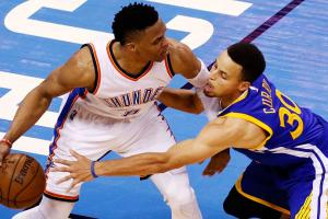Westbrook laughs at Curry's 'underrated defense'