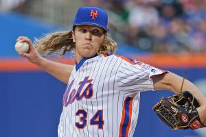Syndergaard ejected for throwing behind Utley