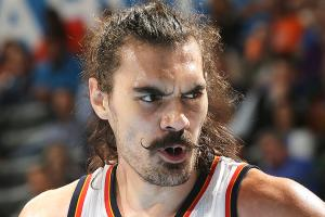 Watch: Steven Adams put Draymond Green on a poster
