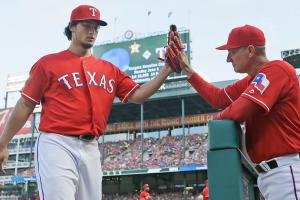 Darvish strong in first start since 2014