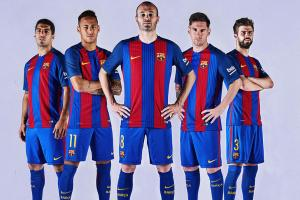 Barcelona back to vertical stripes on new jersey