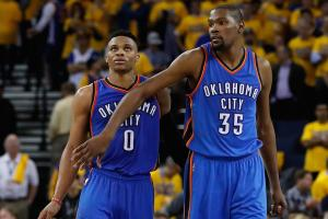 Durant, Westbrook helped OKC manager propose