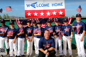 Marine surprises his son at baseball game
