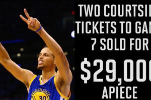 Warriors-Thunder Game 7 tickets sell for $29K each