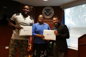 Bills' Claudell Louis becomes American citizen