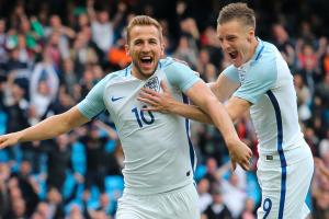 Harry Kane and Jamie Vardy lead England's front line at Euro 2016