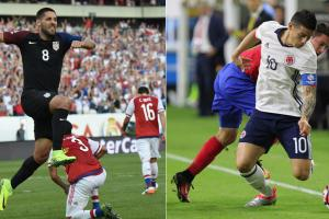 Clint Dempsey and James Rodriguez play in their respective Copa America Group A finales