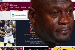 CryingJordan.com will take you to the Cavs' site