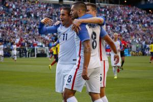 Clint Dempsey celebrates his goal for the USA vs. Ecuador in the Copa America quarterfinals